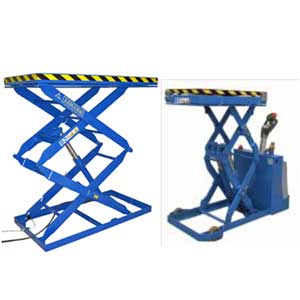 Fully Powered Static & Mobile Scissor Tables & Lift Trucks