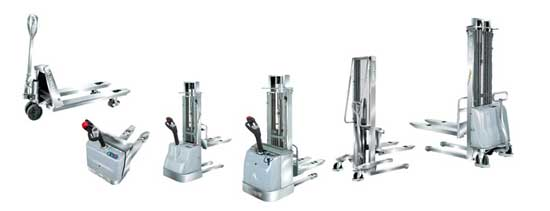 Stainless Steel Stackers & Pallet Trucks